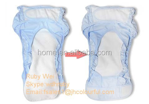 Baby bamboo jersey cotton cloth diaper available soft breathable diaper cloth with microfiber insert