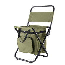 Multifunction high quality folding up chair with cooler bag for camping fishing and travel