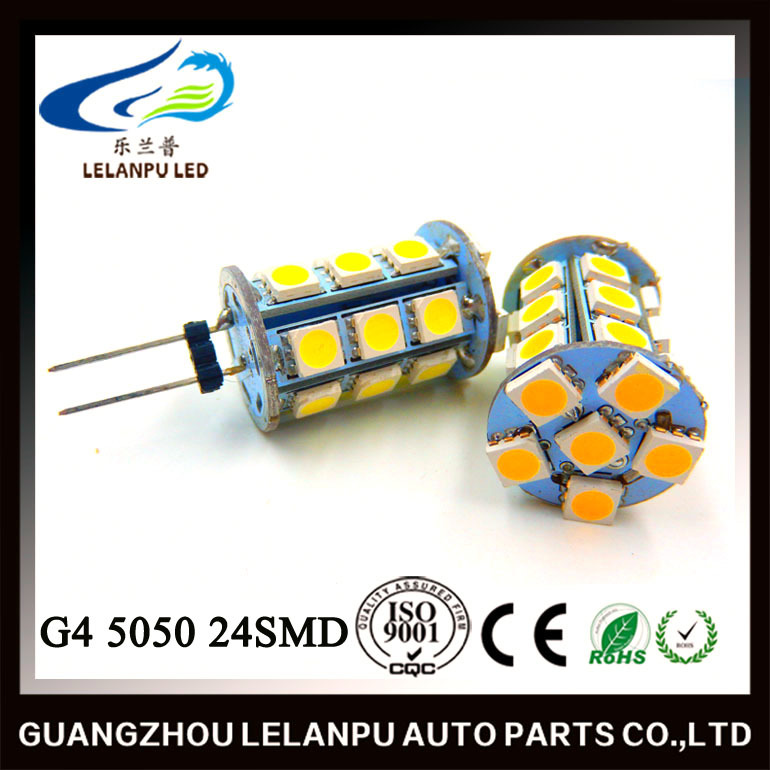 New Led Interior Lighting G4 5050 24SMD decorative led car parts accessories light g4 led
