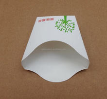 2015 Food grade folding paper box for french fries packaging, disposable take away paper box for fast food