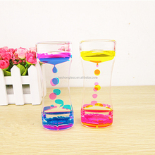 Resin promotional hot selling plastic liquid acrylic hourglass timer