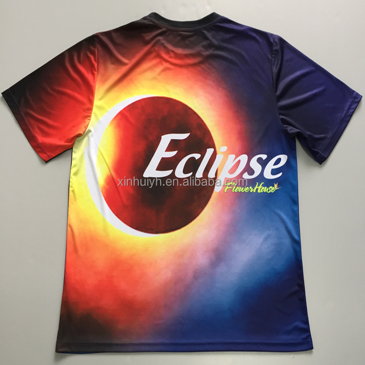 Unisex Bulk 100% Polyester Dry Fit All Over Print 3D Custom Pattern Sublimation T Shirt