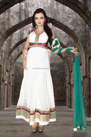 Readymade White Anarkali Suit designs wholesale suppliers Indian Wedding Anarkali R1545