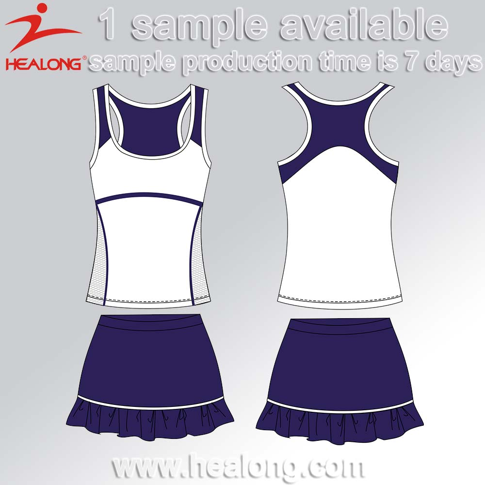 Women Sublimation Lawn Tennis Sports Wear Customized Tennis Wear