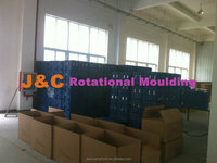 New Design Rotational mold Cargo case with rubber wheels