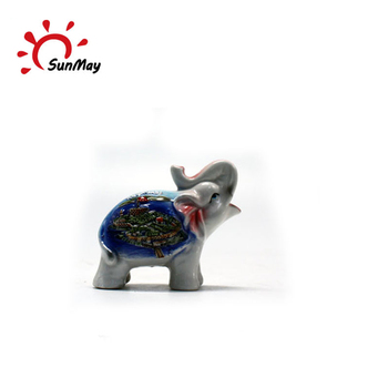 Wholesale custom animal elephant ceramic souvenir for sale