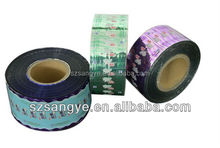 Preformed roll plastic PP/PET/PS/PET cup container sealing /lidding film