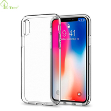 New Premium Crystal Clear Soft TPU Bumper Phone Case For iPhone X , Transparent Back Cover Case For iPhone X 10