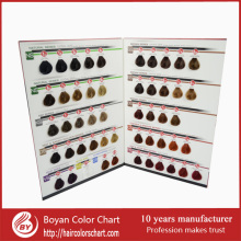ISO 50 professional colors hair color chart for hair coloring