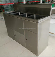 SS201/SS304 Restaurant Commercial Stainless Steel Kitchen Sink Cabinet