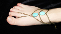 Hot sale women anklets 18k gold charm women anklet body jewelry indian foot jewelry