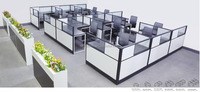 Modular company department workstation cluster furniture table desk (FOH-SS40-1414L)