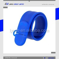 customize promotion gift colorful wristband bracelet flash usb drive