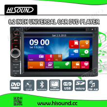 Hot selling 2din dvd with gps radio car bluetooth 6.2'' touch screen