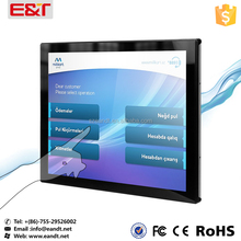 "22"" Full flat capacitive touchscreen industrial lcd monitor for kiosk"
