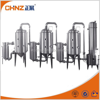 Latest triple-effect vacuum concentrator for fruit juice/milk/beverage