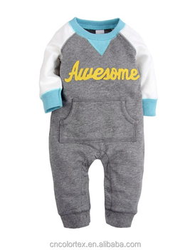 Wholesale China baby colthes long sleeve coveralls romper