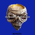 Handy Craved Vintage Fancy Resin Bulk Skull Candle Holder