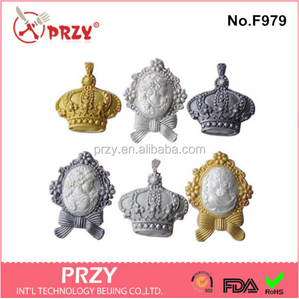 F979 crown silicone products manufacturing food grade crown silicone mold