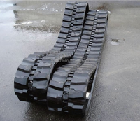 mini excavator rubber track for Bobcat 337 331 334 undercarriage rubber pad 400x72.5x74