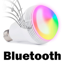 Music speaker lamp bluetooth RGBW LED e27 smart light bulb