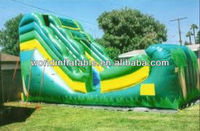 Popular inflatable green slide,jungle water slide