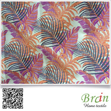 High Quality Yarn Dyed Leaf Pattern Sofa Fabric Upholstery Fabric Polyester Sofa Fabric
