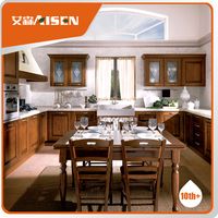 Aisen Furniture modular Free standing small solid wood kitchen cabinet furniture