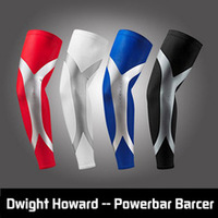 2016 100% Newest Arrival High Elastic Quick Dry Dwight Howard Sport Elbow Arm Warmers Pad Long Arm Sleeve Support Basketball