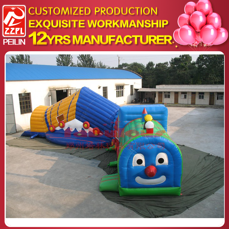 PVC material kids inflatable caterpillar tunnel tent