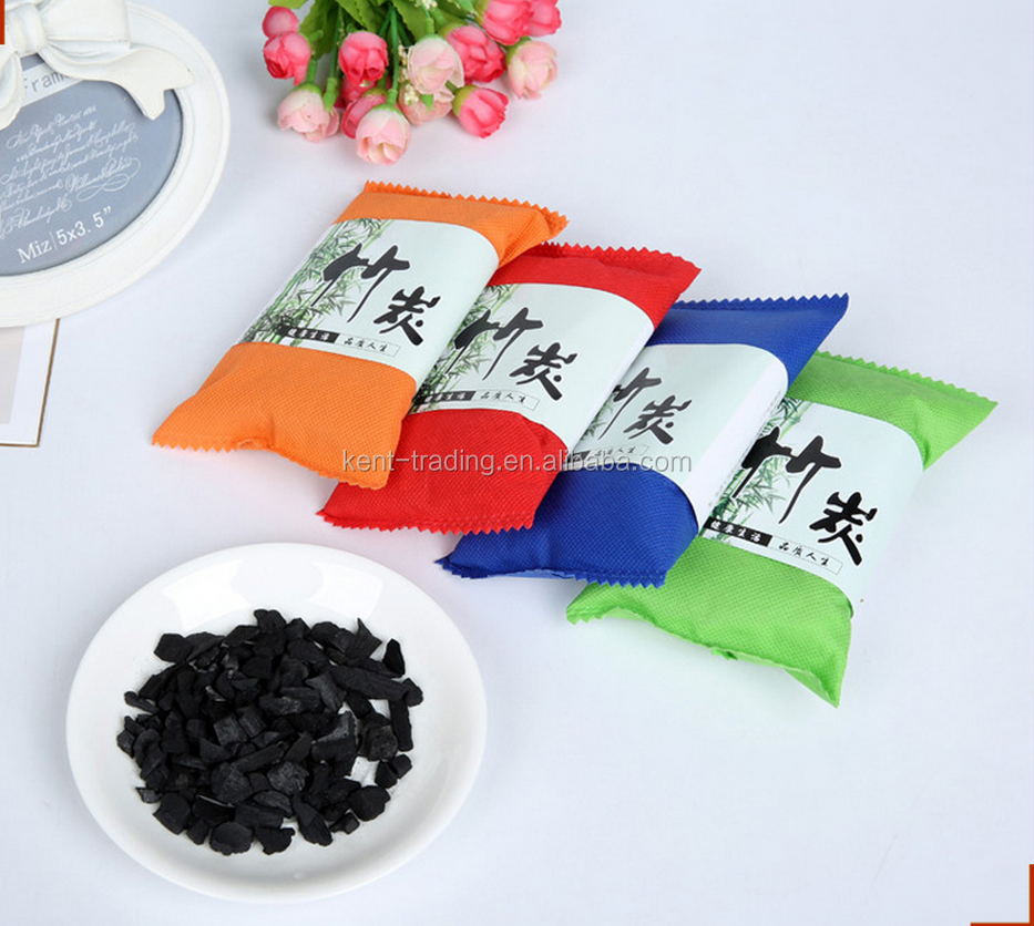Activated bamboo carbon exquisite deodorant package charcoal bag