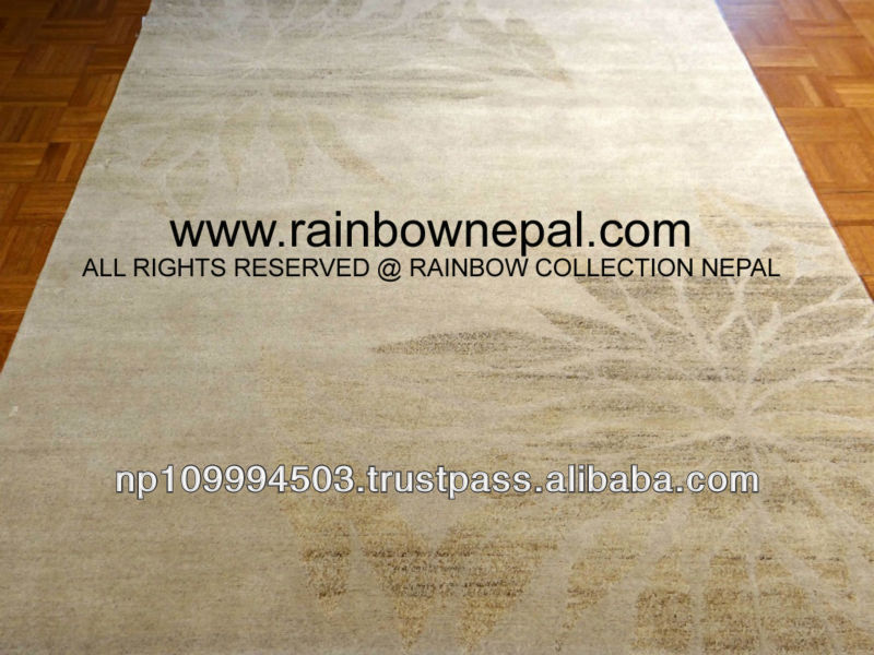 Nepal Hand Knotted Allo, Silk, Wool Carpet Rug 250x300cm