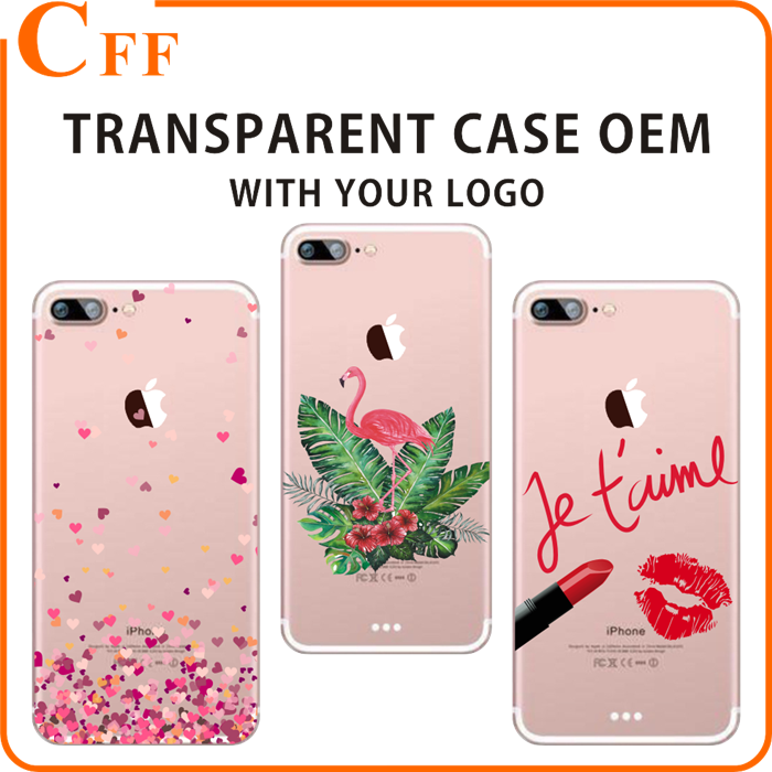 Flamingo Printing case for iphone 6 6s plus Transparent cell phone case cover for samsung galaxy j2 for samsung galaxy S7