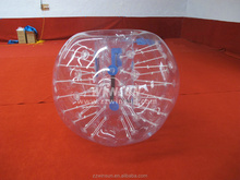 Hot promotional bumper ball for sale,giant plastic bubble, inflatable bubble ball soccer