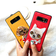 Cute 3D Embroidery Case for Samsung s9 s9plus s8 s8plus s7 s7 edge note 8 Cover With eyes activities Moving Eyeball