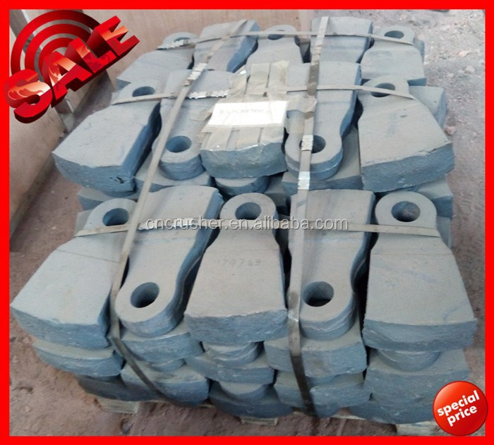 Cast mining machine part,hammer crusher spare parts,crusher hammer head for sale