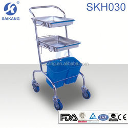 Professional Service Comfortable Stainless Steel Waste Trolley