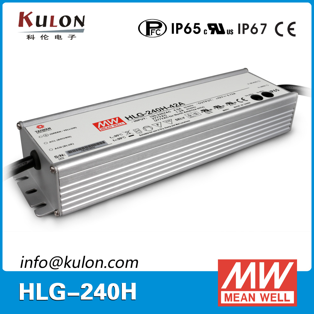 Meanwell HLG-240H-42A 240W 42v PFC ip65 led power driver