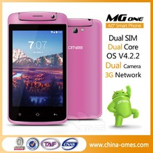 In Stock Sale ! OMES MG1 4 inch 3G WCDMA MTK6572 dual core Android 4.4 OEM cell phone manufacturer in china