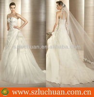Hot Sell Off Shoulder A-Line Floor Length Beautiful latest wedding gown designs