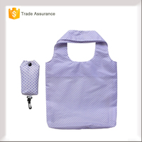 Biodegradable Eco-friendly Nylon Foldable Shopping Bag With Snap Pouch