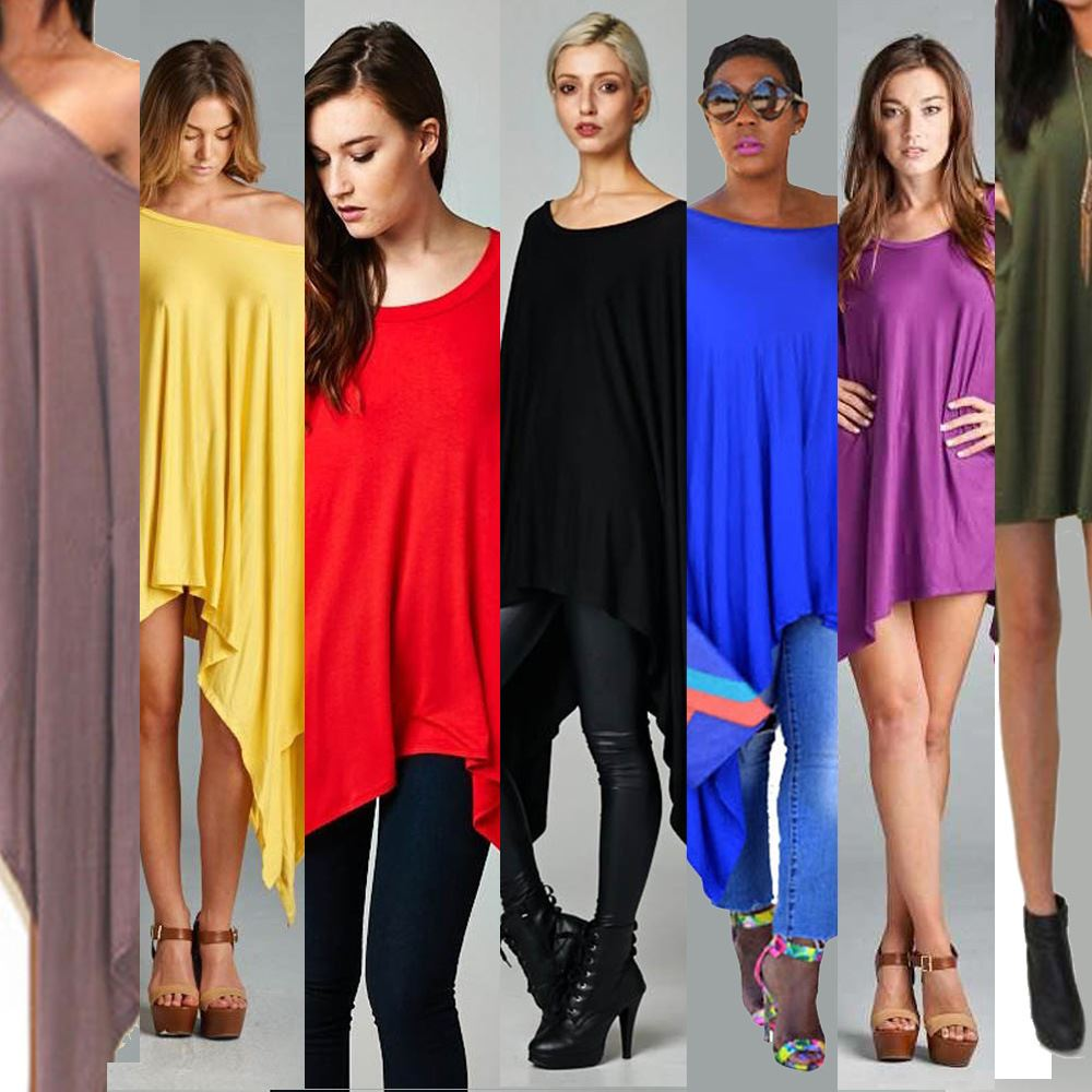 8 color 6 yards 3 code <strong>dress</strong> fashion loose Cape bat sleeve irregular <strong>dress</strong> Plus Size <strong>dress</strong> for women