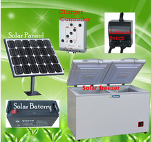 315L dual zone solar chest fridge freezer 12v 24v solar freezer