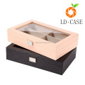 Eyeglass Sunglass Oversized Glasses Jewelry Display Case PU Leather Organizer Eyewear Storage Box