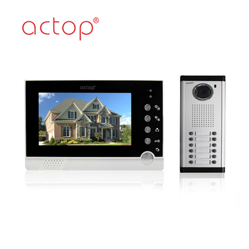 Multi Apartment Video Door Phone Intercom System For Apartment