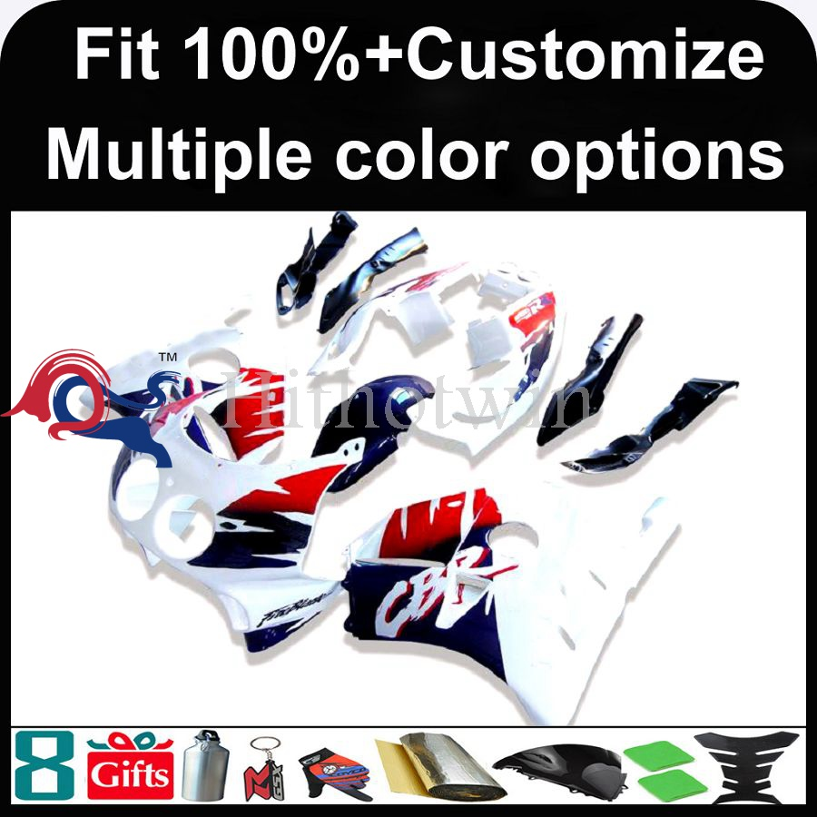 INJECTION MOLDING panels 1991 1992 1993 1994 1995 1996 1997 1998 1999 CBR250RR MC22 Plastic red white Fairing Kit Fit For HONDA
