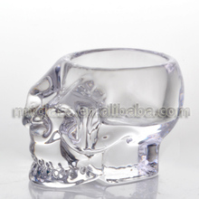 crystal Glass Skull Candle Stick Holder Stand Home Table Pray Decor