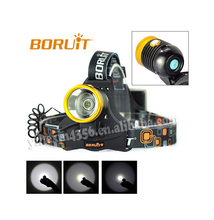 Boruit Cree L2 Powerful Adjustable Straps Rechargeable LED Headlamp
