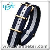 PVD buckle high quality fashion nato band adjustable custom one piece watch band