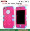 Full Star Design Diamond hard cover For Iphone 5 5S Case Alibaba supports Trade Assurance